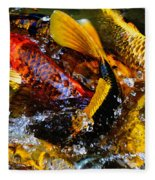 Secrets Of The Wild Koi 2 Fleece Blanket