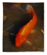 Secrets Of The Wild Koi 5 Fleece Blanket