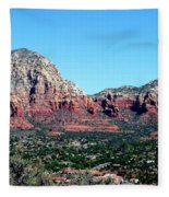 Sedona Arizona City Scape Fleece Blanket
