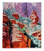 Sedona Arizona Rocky Canyon Fleece Blanket
