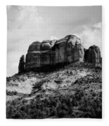Sedona In Black And White Fleece Blanket