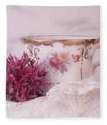 Sedum Flower Still Life Fleece Blanket
