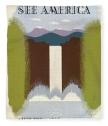 See America Poster, C1937 Fleece Blanket