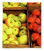 See Canyon Apples Fleece Blanket