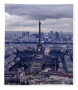 See Paris As Birds Do Fleece Blanket
