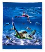 See Turtles Fleece Blanket