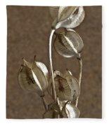 Seed Pods Macro Fleece Blanket