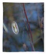 Seeds In A Pod Dark Fleece Blanket