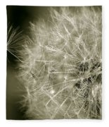Seedy Dandelion Fleece Blanket