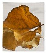 Seeing Double Autumn Leaf  Fleece Blanket