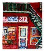 Segal's Market St.lawrence Boulevard Montreal Fleece Blanket
