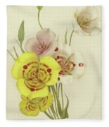 Sego Lily   Calochortus Fleece Blanket