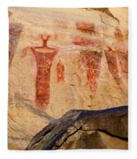 Sego Petroglyphs Utah 3 Fleece Blanket