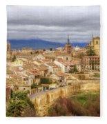 Segovia Cathedral View Fleece Blanket