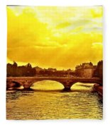 Seine View Fleece Blanket