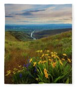 Selah Spring Sunset Fleece Blanket