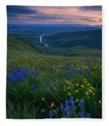 Selah Sunset Fleece Blanket