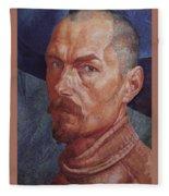 Self 2 1926-1927 Kuzma Sergeevich Petrov-vodkin Fleece Blanket