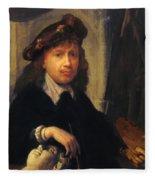 Self Portrait 1635 Fleece Blanket