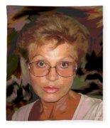 self portrait II Fleece Blanket