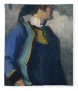 Self-portrait In Bretonnian Garb Fleece Blanket