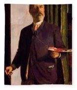 Self Portrait In Studio 1893 Fleece Blanket