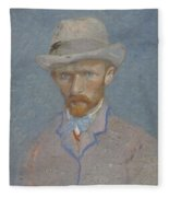 Self-portrait Paris  Summer 1887 Vincent Van Gogh 1853  1890 Fleece Blanket