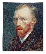 Self Portrait Vincent Van Gogh Fleece Blanket