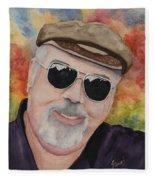 Self Portrait With Sunglasses Fleece Blanket