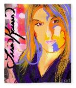 Self Portraiture Digital Art Photography Fleece Blanket