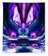 Self Reflection - Purple Blue Fleece Blanket