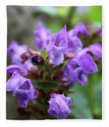 Selfheal Up Close Fleece Blanket