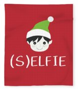 Selfie Elf- Art By Linda Woods Fleece Blanket
