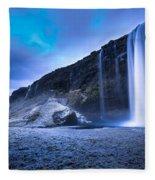 Seljalandsfoss Iceland Fleece Blanket