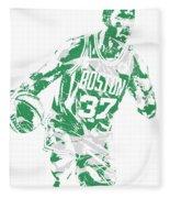 Semi Ojeleye Boston Celtics Pixel Art 2 Fleece Blanket
