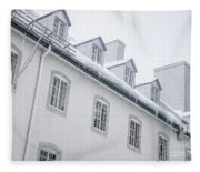Seminary Of Quebec City In Old Town Fleece Blanket