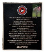 Semper Fi To The 1st Man Down In Iraqi Freedom Plaque Fleece Blanket