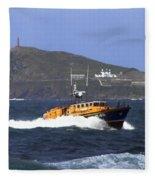 Sennen Cove Lifeboat Fleece Blanket