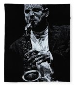 Sensational Sax Fleece Blanket
