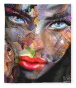 Sensual Eyes Autumn Fleece Blanket