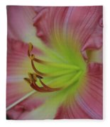 Sensual Pink Lilly Fleece Blanket