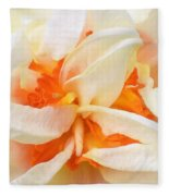 Sent Of A Beautiful Flower Fleece Blanket