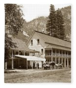 Sentinel Hotel And Ivy And River Cottages Circa 1895 Fleece Blanket