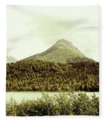 Sepia Alaska  Fleece Blanket