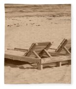 Sepia Chairs Fleece Blanket