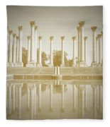 Sepia Columns Fleece Blanket