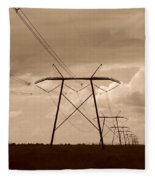Sepia Power Fleece Blanket