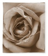 Sepia Rose Fleece Blanket