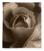 Sepia Rose Fleece Blanket