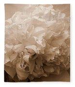 Sepia Series - Peony Fleece Blanket